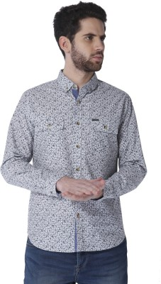 Urban Scottish Men's Printed Casual Button Down Shirt