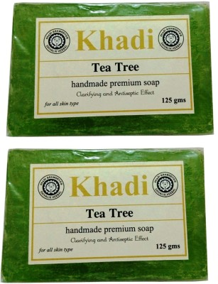 Khadi Herbal Tea Tree Soap(250 g, Pack of 2)