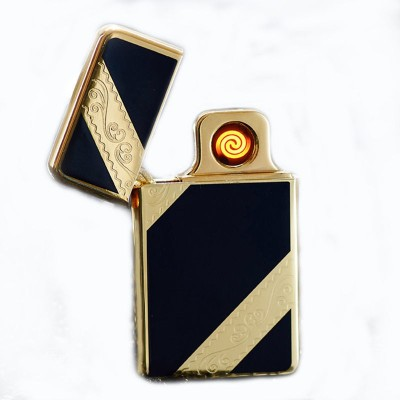 Pia International CIRCUIT REPLACEABLE RECHARGEABLE FIRST QUALITY Cigarette Lighter(Gold, Black)