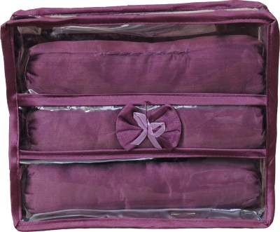 Annapurna sales Designer Transparent Treeple Roll Churi/Bangles Case Makeup and Jewellery Vanity Box(Purple)  available at flipkart for Rs.222