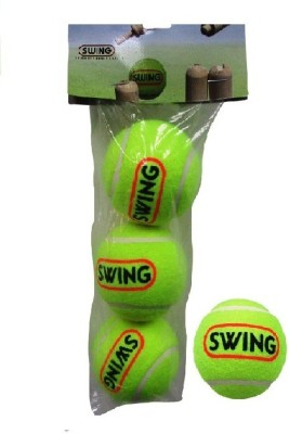 Cosco SWING Cricket Tennis Ball(Pack of 3, Green)  available at flipkart for Rs.159