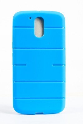 The Little Shop Back Cover for Motorola Moto G (4th Generation) Plus(Light Blue, Shock Proof, Rubber)