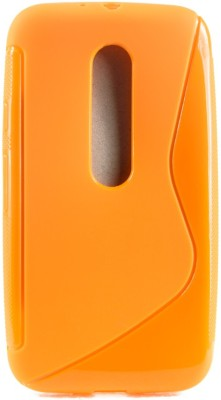 The Little Shop Back Cover for Motorola Moto G (3rd Generation)(Orange, Shock Proof, Rubber)