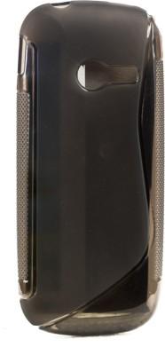 Mystry Box Back Cover for Samsung Metro B313E Grey, Silicon