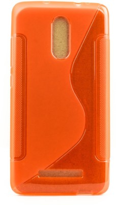Mystry Box Back Cover for Mi Redmi Note 3 Orange, Silicon Mystry Box Plain Cases   Covers