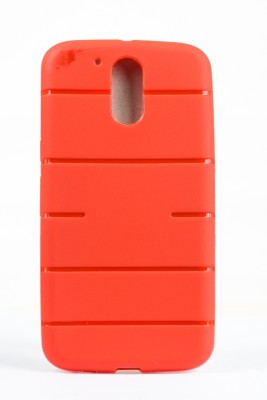 The Little Shop Back Cover for Motorola Moto G (4th Generation) Plus(Red, Shock Proof, Rubber)