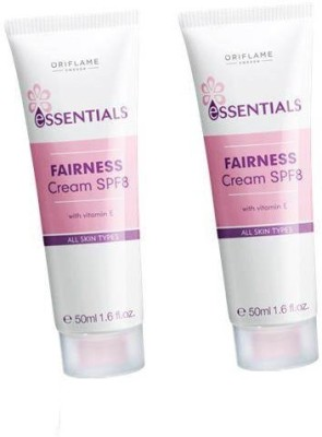 Oriflame Sweden Essentials Fairness Cream SPF 8(Pack of 2)(100 ml)  available at flipkart for Rs.338