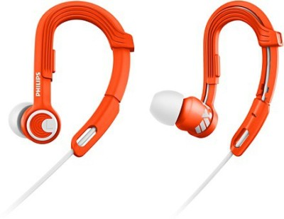 Philips SHQ3300OR/00 Wired Headset with Mic(White and Orange, In the Ear)