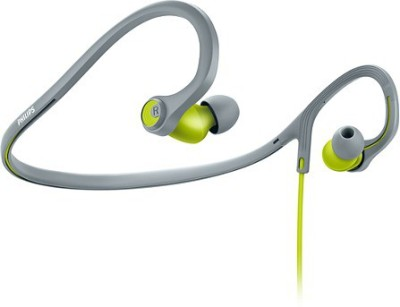 Philips SHQ4300LF/00 Wired Headset with Mic(Grey and Green, In the Ear)
