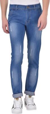 Ansh Fashion Wear Regular Men Black, Blue Jeans(Pack of 2)