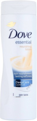 Dove Essential Nourishment Body Lotion(399 ml)  available at flipkart for Rs.975