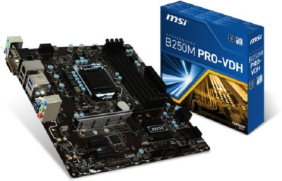 MSI B250M PRO-VDH Motherboard(Black)  available at flipkart for Rs.8255