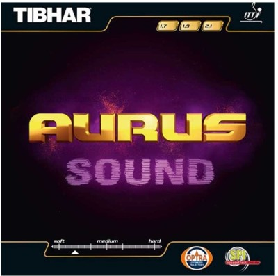 Tibhar AURUS SOUND 11.3 mm Table Tennis Rubber(Red)
