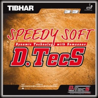 Tibhar D.TECS SPEEDY SOFT 11.3 mm Table Tennis Rubber(Black)