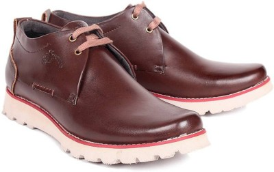 Red Marine Formal Casuals For Men(Brown)