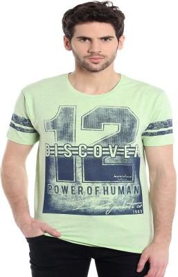 MASCULINO LATINO Printed Men's Round Neck Green T-Shirt