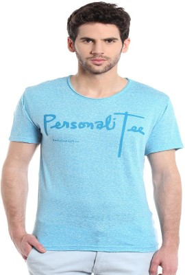 MASCULINO LATINO Printed Men's Round Neck Blue T-Shirt