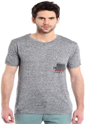 MASCULINO LATINO Printed Men's Round Neck Grey T-Shirt