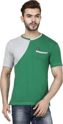 Demokrazy Solid Men's Round Neck Green T-Shirt