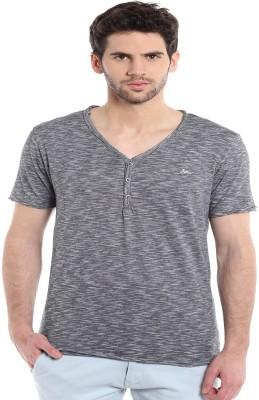 MASCULINO LATINO Printed Men's V-neck Grey T-Shirt