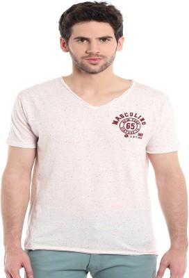 MASCULINO LATINO Printed Men's V-neck White T-Shirt