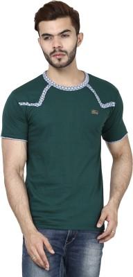 Demokrazy Solid Men's Round Neck Dark Green T-Shirt