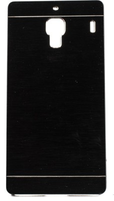 The Little Shop Back Cover for Mi Redmi 1S(Black, Rubber, Metal)