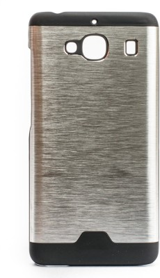 The Little Shop Back Cover for Mi Redmi 2(Silver, Rubber, Metal) Flipkart