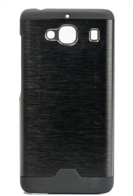 The Little Shop Back Cover for Mi Redmi 2(Black, Rubber, Metal)
