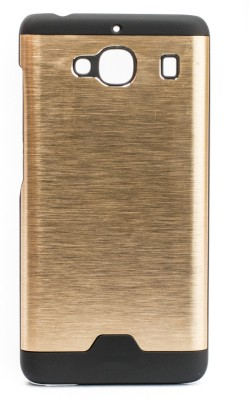 Mystry Box Back Cover for Mi Redmi 2(Gold, Rubber, Metal) Flipkart