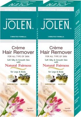 Jolen Hair remover (Twin Pack) sandal Cream(240 ml) Flipkart