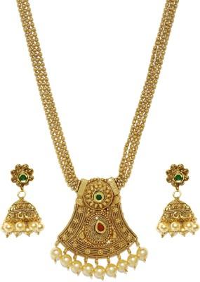 Zaveri Pearls Zinc Jewel Set(Gold) at flipkart