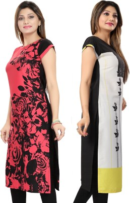 Meher Impex Casual Floral Print Women Kurti(Pack of 2, Multicolor)