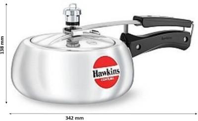 Hawkins Contura 2 L Pressure Cooker(Aluminium)  available at flipkart for Rs.1078