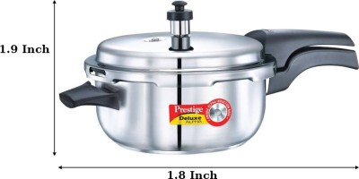 a594adde48e Prestige Deluxe Alpha 6.5 L Induction Bottom Pressure Cooker(Stainless Steel )