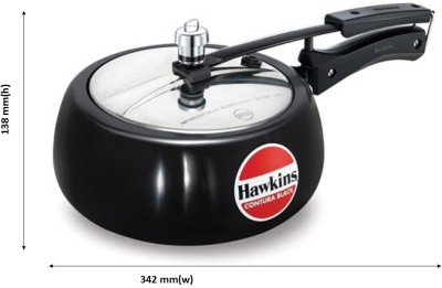 Hawkins Contura Black 2 L Pressure Cooker(Aluminium)  available at flipkart for Rs.1395