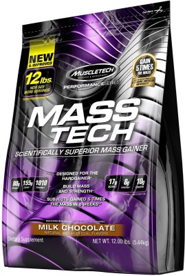Muscletech Mass Tech Mass Gainers(5.44 kg, Chocolate)