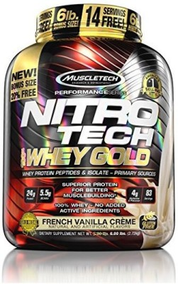 Muscletech Nitrotech Whey Gold Whey Protein(2.72 kg, French Vanilla Crème)
