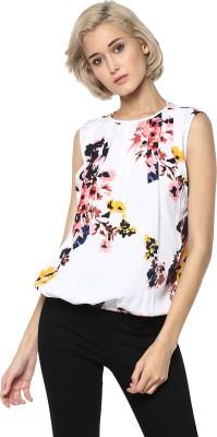 Rare Casual Sleeveless Printed Women Multicolor Top