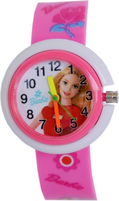 Vitrend Barbie Round Design Pink(Random Colours Available)Return Gift Watch - For Boys & Girls