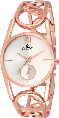 Dezine DZ-LR069-SLV-CPR  Analog Watch For Unisex
