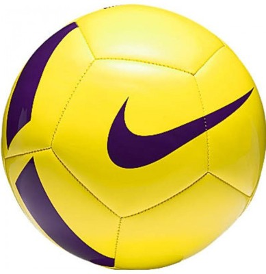 Nike Pitch TEAM Football - Size: 5(Pack of 1, Yellow, Blue)