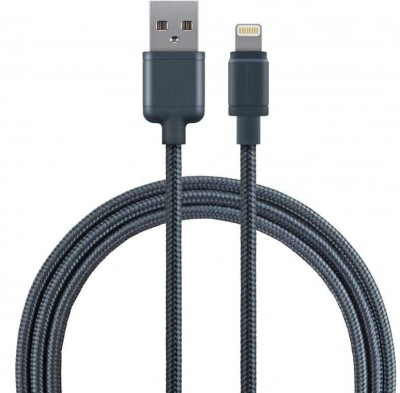 Voltegic ™ Premium Apple Certified Braided Lightning Cord Dual Shielded Sync & Charge Cable(Black)