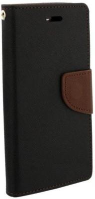SAMARA Flip Cover for HTC Desire 628(Black, Brown, Artificial Leather, Rubber)