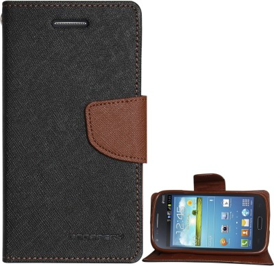 Goospery Wallet Case Cover for Samsung Galaxy Core(Brown, Artificial Leather)