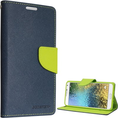Goospery Wallet Case Cover for SAMSUNG Galaxy E7(Pebble Blue, Artificial Leather)