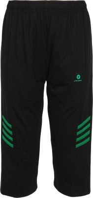 Cayman Three Fourth For Boys(Black Pack of 1)