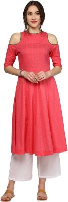 Sassafras Self Design Women's Anarkali Kurta