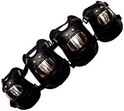 Auto Hub Knee Guard, Elbow Guard Free Black(Pack of 4)