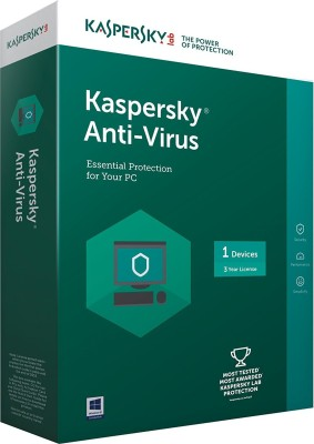 kaspersky Antivirus Software 2017 1 Pc 3Year (1cd,1095 Days Valid Serial Key This serial key also use for renewal purpose) at flipkart